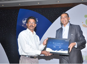 Receiving RBS Earth Hero Award